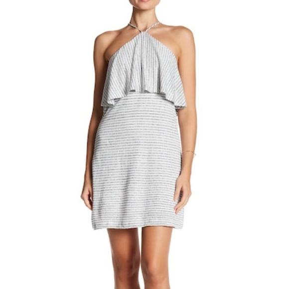 be715a603db Splendid Linen Mini Stripe Halter Dress